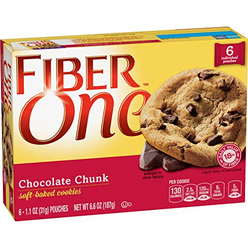 Fiber One Soft-Baked Cookies Chocolate Chunk, 6.6 oz