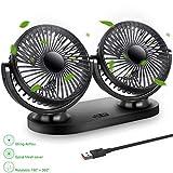 STLOVE Ventilatore per auto a 3 velocità con rotazione a 360 gradi, ventola regolabile, c...