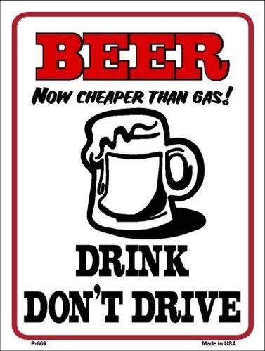 koopje wereld bier goedkoper dan gas metaal nieuwigheid parkeerbord (met plakkerige opmerkingen)