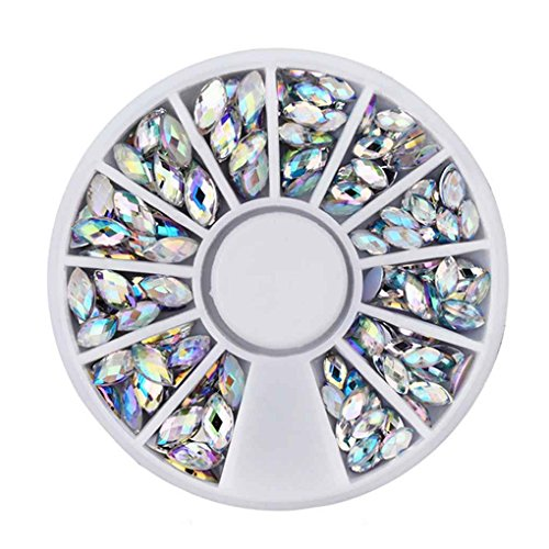 YOSIYO Crystal AB Nail Art Rhineston Decoration Wheel Mix Sizes Glitter Nail Beads 3D Diy Beauty Nail Accessories tool