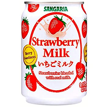 Japanese Sangaria Rich and Creamy Milk Tea Can 8.96 Fl oz  Strawberry 24 Cans