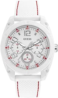 Guess Mens Quartz Watch, Analog Display and Silicone Strap W1256G2