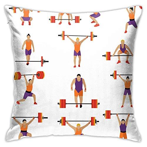suichang Gewichtheben Workout Exercise Gym Moderner dekorativer Kissenbezug, geeignet zum Dekorieren von Sofa, Büro, Schlafzimmer, Wohnzimmer18 x18 Zoll