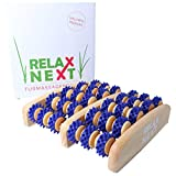 Fussmassageroller aus Holz | gegen müde und schmerzende Füße | Reflexzonen Fussmassagegerät | original RELAX NEXT