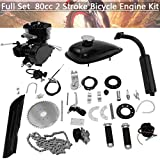 Ziloco Full Set 80cc Bicycle Engine kit, 2 Stroke Motorized Bike Petrol Gas Engine Kit, Turn Your Pedal Bike Into an Electric Bike...