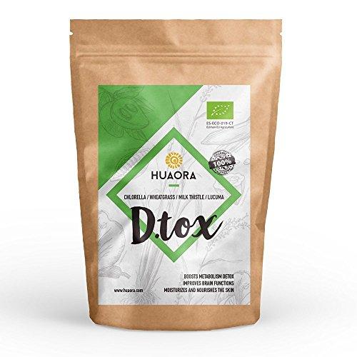 Huaora - D-Tox, Superalimentos Desintoxicantes, Reforzar Sistema Inmunitario y Cuidar Salud de la Piel 150gr | 100% Natural, Vegano y Orgánico - Sin Gluten, Sin Lactosa, Sin Aditivos Artificiales