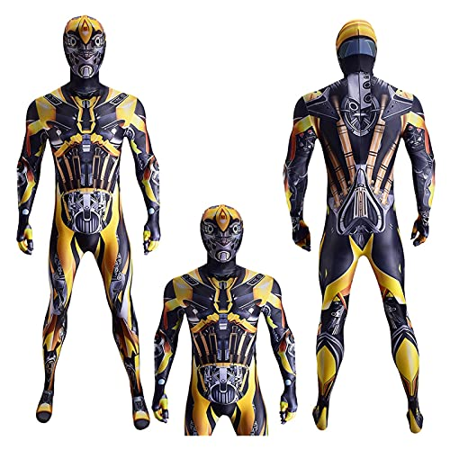 ADZPA Transformadores Unisex para Adultos para niños Disfraz de Cosplay Bumblebee, Adecuado para Disfraces de Lujo, Halloween, Disfraces de poesía (Color : Child, Size : XS)