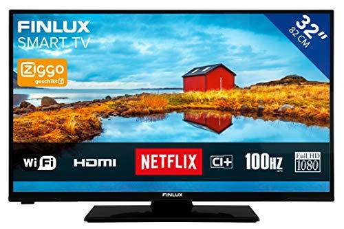 Finlux FL3226SF - Fernseher 32 Zoll (81cm) | Full HD TV | SMART TV mit WLAN und Netflix | Triple Tuner, CI+ | Schwarz