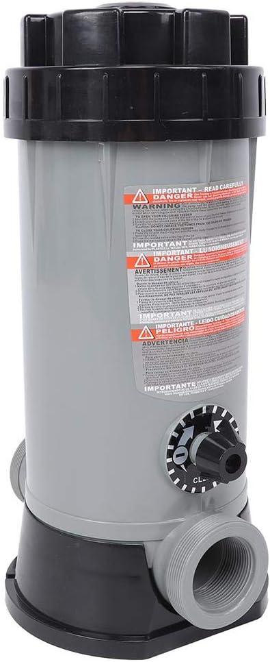AMONIDA Clorador automático automático para Piscinas, alimentador automático de Cloro, Estanque de Peces para Piscinas CL-200 a Prueba de corrosión para Equipos de desinfección de Piscinas y