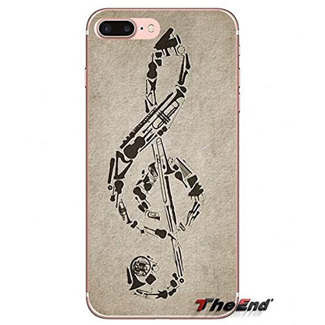 White Black Musical Notes iPhone 6 Case Grey Blue Music Themed 6S Cover Raining Instruments Musicians Guitars Piano Classical Sheet Acoustic Song Cool, Plastic