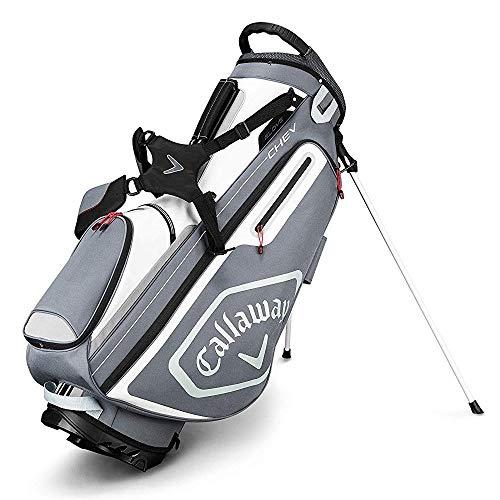 Callaway Golf 2019 Chev Standtasche, Unisex-Erwachsene, Stand Bag, Titan/Weiß/Silber