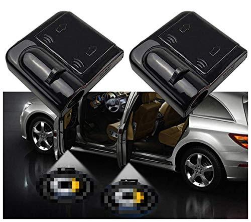 QMZDXH Luce per Porta Auto Logo Light, Luce di Benvenuto Portiera Proiezione, per Mercedes Benz Smart Forfour Fortwo for-Us Roadster Brabus Logo Dell'ombra Fantasma Lampada