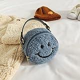COJJ - Bolso bandolera para niños pequeños y pequeños, de felpa suave para bebés y niñas