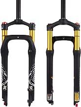 KRSEC 【US Stock】 26er Fat 4.0 Tires Rebound Adjust MTB Snow/Beach Bike Air Suspension Fork, Straight Crown Lockout Disc Brake Mountain Bikes Forks, 28.6 Travel 120mm Hub Spacing 135mm