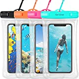 Waterproof Phone Pouch Floating, Karvense Universal Waterproof Phone Case/Bag Floating, Clear Underwater Cell Phone Dry Bag, for iPhone, Samsung Galaxy, LG, Moto, Pixel, Phones up to 6.9''– 4 Pack