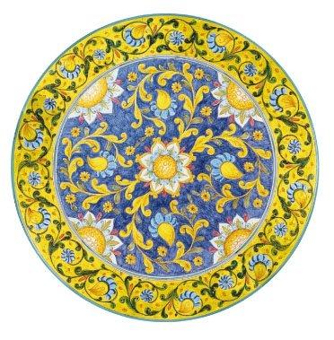 Dafnedesign Mesa de jardín de piedra volcánica diámetro 100 cm Peso 75 kg - Decoración floral - Base de hierro gris 80 cm de diámetro - Alta resistencia a los golpes