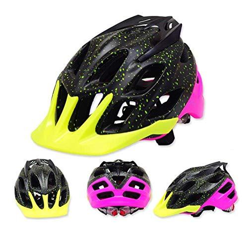 Pkfinrd Fahrradhelm Fahrradhelm für Männer und Frauen Leichter Helm mit Abnehmbarer Sonnenblende und verstellbarem Reflexstreifen@D_L : 58-62 cm