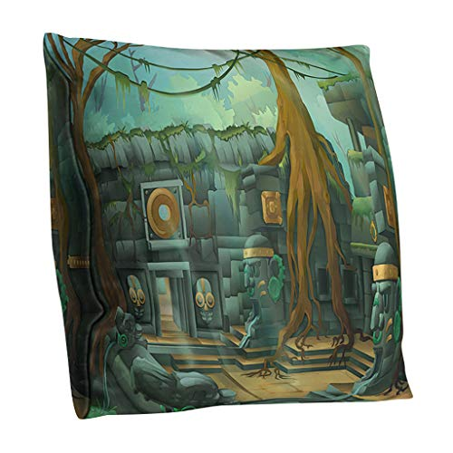 TWIFER Halloween Kissenbezug Polyester Doppelseitig Kissenhüllen Home Decoration (G,45x45cm)
