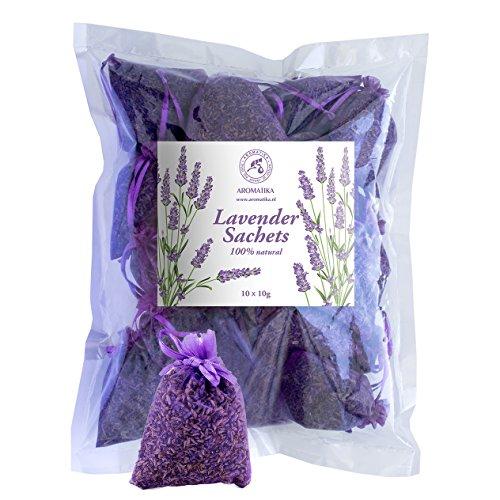 Lot de 10 Sachets x 10g - Française Parfumée Lavande Fleurs en Provence - Organza Violet - Sachets avec Lavande