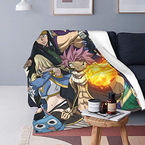 Fairy Tail Ultra Soft Micro Fleece Durable Throw Blanket Soft Warm Blanket Sheet for Bed Bedding Sofa Office Living Room Home Decor 125 x 150 cm