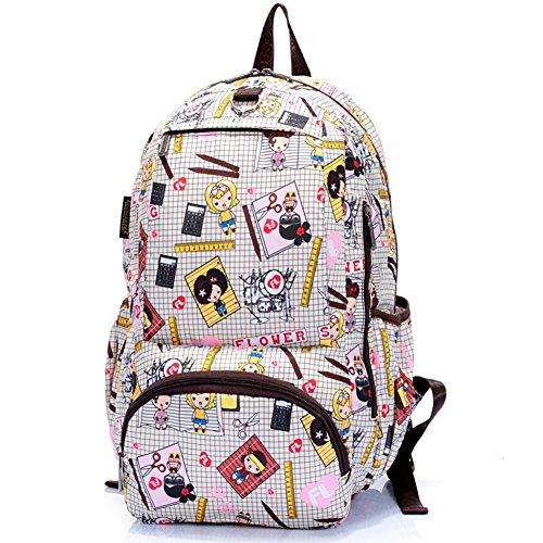 Sincere® Fashion Backpack / Zipper Sacs à dos / Rue mode / Multifonction / Mode schoolbag / loisirs sac à main / polyester sac imperméable à l'eau 10
