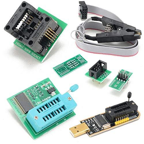 Programador USB BIOS EEPROM CH341A + Clip + 1.8V 8-Pin SOIC adaptador + adaptador de SOIC8