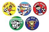 Sticker Solutions Belohnungsaufkleber, Motiv: Fußball, (180Stück), englische Beschriftung
