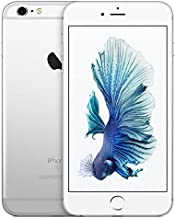Apple iPhone 6S Plus, 128GB, Silver - for AT&T/T-Mobile (Renewed)