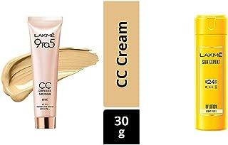 Lakme 9 to 5 Complexion Care Face Cream, Beige, 30g & Lakme Sun Expert SPF 24 PA Fairness UV Sunscreen Lotion, 60ml
