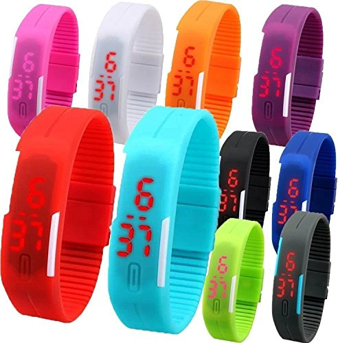 Pappi Boss Haunt Kids Digital LED Band , Pack of 12, Multicolour