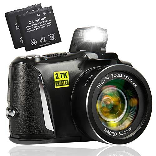 Digitalkamera2.7KUltraHDFotoapparatDigitalkamera48MegapixelKompaktkameramit3-Zoll-BildschirmkamerafürAnfängerSchüler(mit2Batterien)