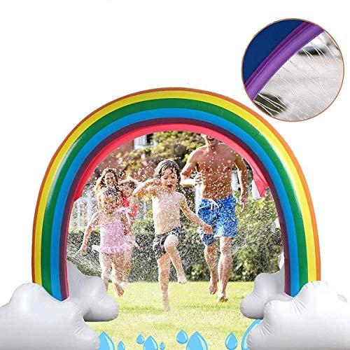 Arroseur d'eau arc-en-ciel gonflable, jouets d'extérieur d'arroseur d'arc d'été pour les enfants et les tout-petits à l'extérieur des jouets d'eau d'arrosage d'éclaboussure pour les garçons filles et