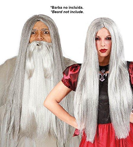 Parrucca grigia lunga strega stregone