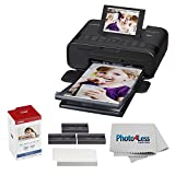 Canon SELPHY CP1300 Compact Wireless Photo Printer (Black) +Canon KP-108IN Color Ink and Paper Set +Photo4Less Cleaning Cloth - Deluxe Value Printer Bundle