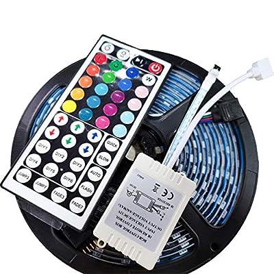 MOKINGTOP - LED Strip Lights, 16.4ft RGB 5050 W...