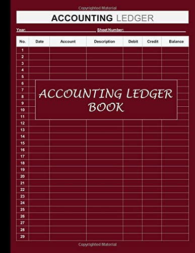 Accounting Ledger Book: Simple Accounting Ledger for Bookkeeping and Small Business Income Expense Account Recorder & Tracker logbook: 120 Pages | High Quality Tyrian Purple Matte Finish Cover