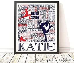 Figure Skating Personalized Typography Print - PrintChicks Ice Skating Custom Poster Wall Art Decor
