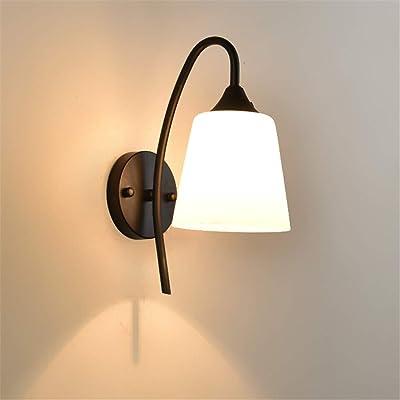 XIAOLULU Lámparas de Aplique de iluminación de Pared de EST Aplique Retro Simple LED Salón Escalera Balcón Apliques de Pared (Color : Negro, tamaño : Free Size): Amazon.es: Hogar