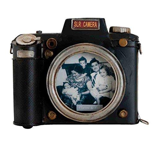 Clayre & Eef 6Y1722 foto-/schilderijlijst fotolijst camera fotolijst zwart ca. 18 x 4 x 15 cm.