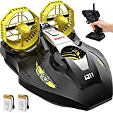 Remote Control Boat for Kids and Adults, SYMA 2.4GHz Q11 Amphibious RC Boats for Land, Pools and Lakes with Double Power, Low Battery Reminder, Speed Boat Hovercraft Toys Gifts for Boys Girls