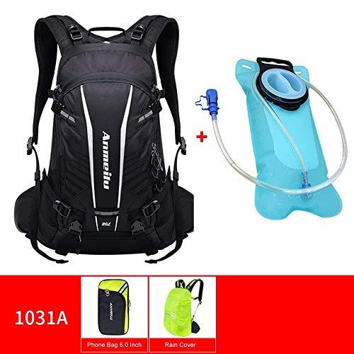 CHUJIAN ANMEILU 20L Waterproof Climbing Bag Trekking Rucksack Outdoor Sports Bag Men Women Travel Backpacks Camping Hiking Backpack Bag (Capacity : 20L, Color : Black with water bag)