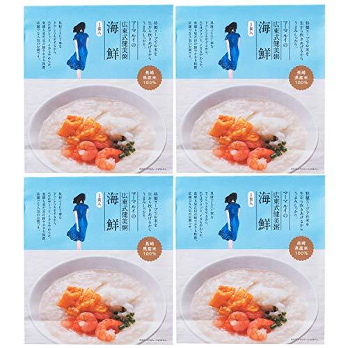 チャイデリカ 広東式健美粥 海鮮 粥300g 具材20g 4食 中華粥 おかゆ 惣菜 お粥 長崎