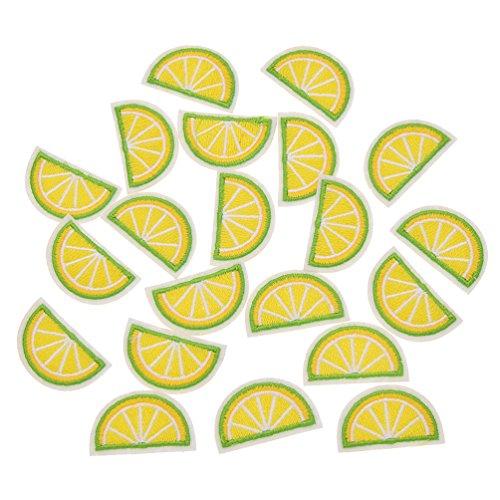 Hongma 20er Limette Aufnäher Aufbügler Gelb Grün Applikation für T-Shirt Kleid DIY Sommer