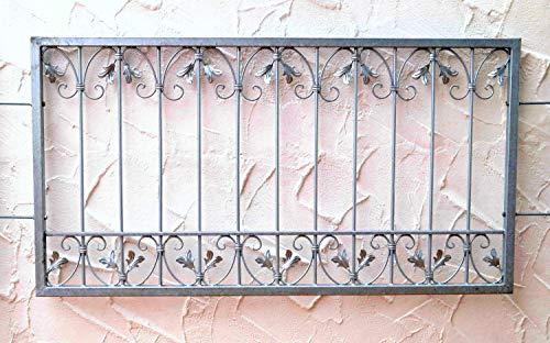 Fenstergitter Schmiedeeisen Gitter Einbruchschutz Monaco-Z60/102 Feuer verzinkt