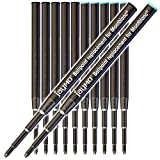 Jaymo - 6 Negro + 6 Azul - Recambio para bolígrafo Montblanc 116190/124493-98mm / 3,88 in Long