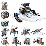 FURNIZONE STEM 12 in 1 Solar Robot Kit for Kids Boys Aged 10 and up, DIY Educational Building Toys Powered by The Sun - Teens Christmas/ Birthday Gift