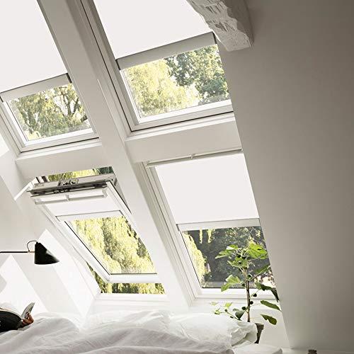 VELUX Verdunkelungsrollo elektrisch GGL & GPL Fenstergröße M06 Uni Stoff Uni Weiß - 1025