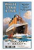Titanic - White Star Line - Poster Druck 61x91,5 cm + 1