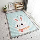 OPLJ Bodentürmatte für Wohnzimmer rutschfeste Küchenmatte Teppich Moderner Küchenteppich Waschbare Fußmatte Home Deco A6 60x180cm