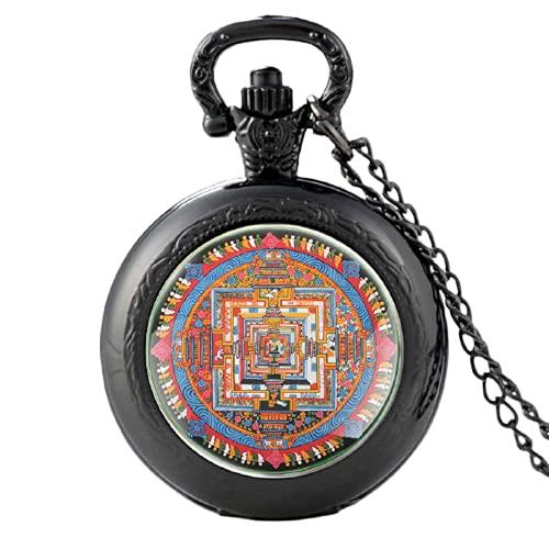 Vintage Holy Building Reloj de bolsillo de cuarzo de plata reloj colgante reloj hombres mujeres cristal cúpula collar regalos